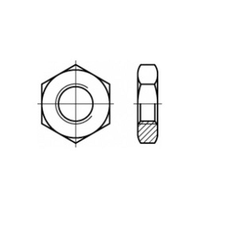 10 St/ück Sechskantmuttern M2 niedrige Form DIN 439 Edelstahl A2 Muttern Flachmuttern